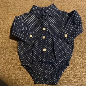 3/$15 Navy Dress Shirt Onesie